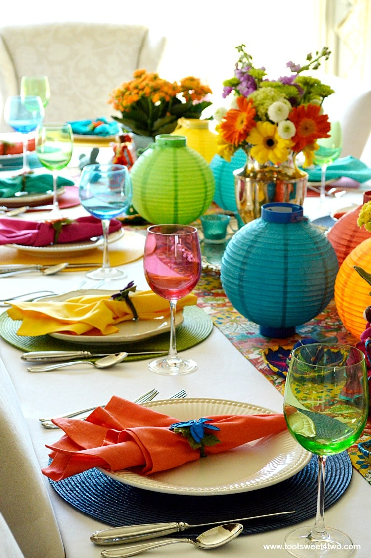Tablescape for Decorating the Table for a Cinco de Mayo Celebration