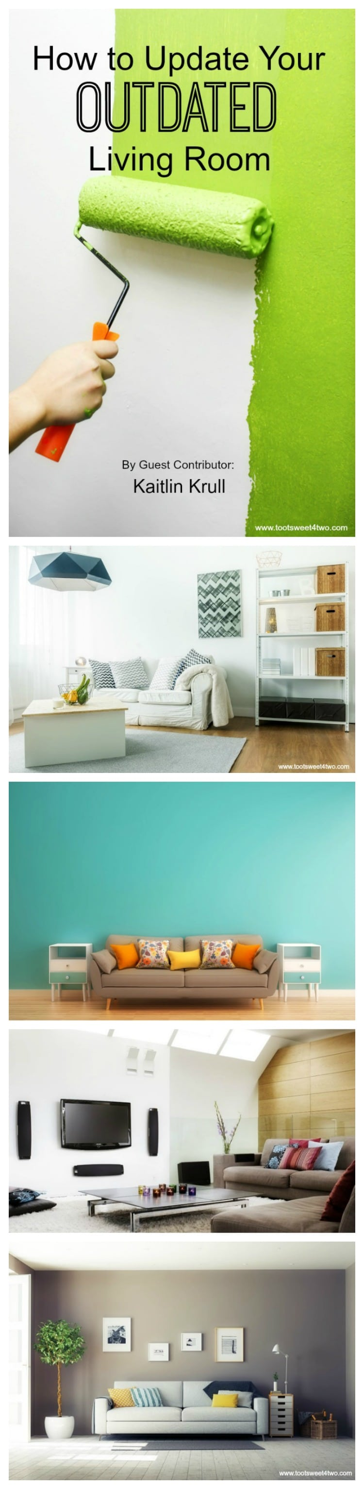 One of the most loved rooms in the home - and therefore probably most outdated - is the living room. Learn how to update your outdated living room with these easy, budget-friendly tips and ideas to stay on trend with today's decor. | www.tootsweet4two.com