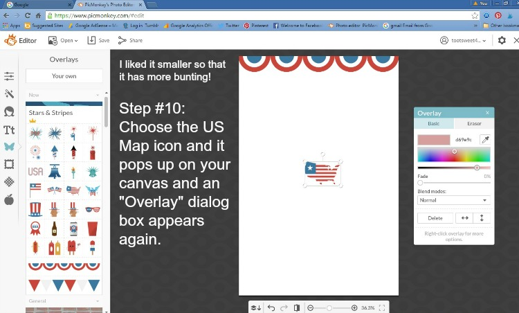 Step 10 - Choose the US Map icon