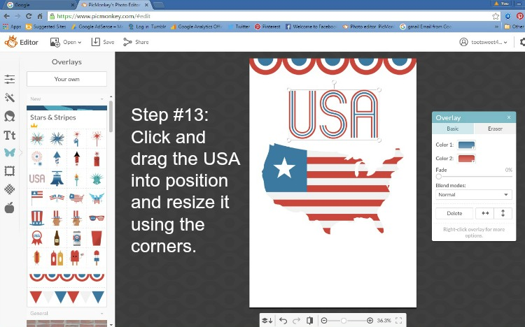 Step 13 - Click and Drag USA