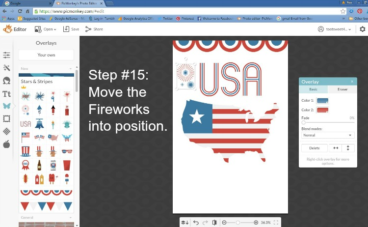 Step 15 - Move Fireworks into Position