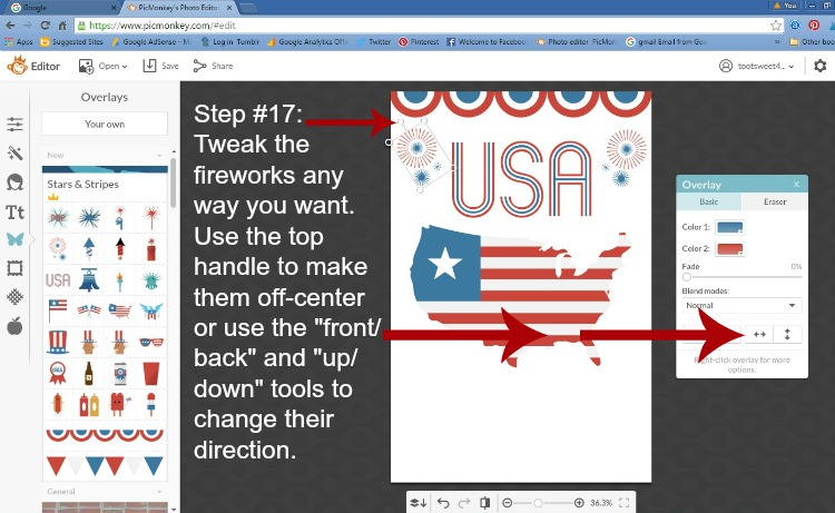 Step 17 - Tweak your Fireworks
