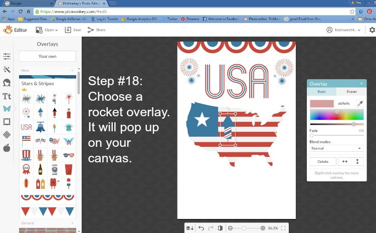 Step 18 - Choose a Rocket Overlay