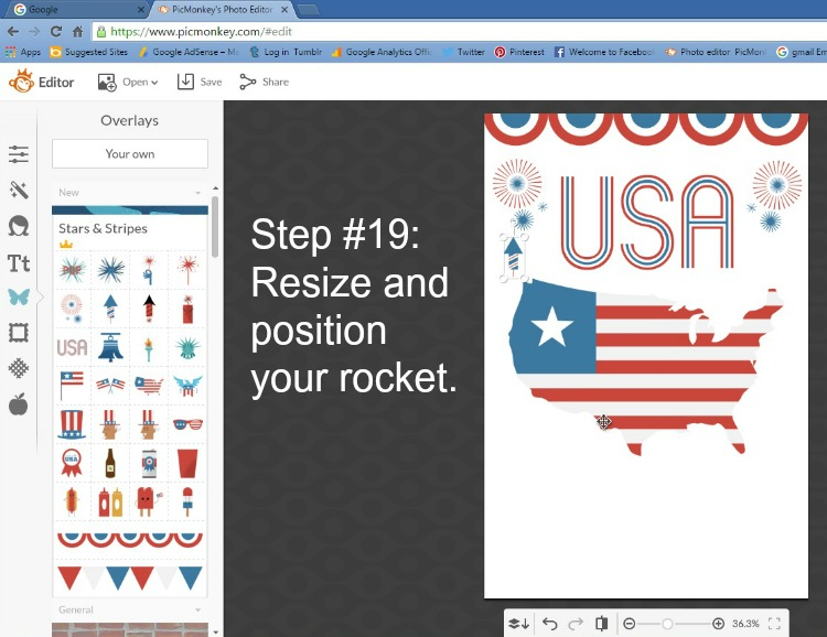 Step 19 - Resize the Rocket