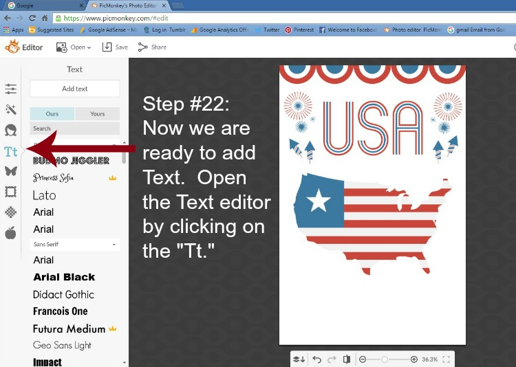 Step 22 - Open the Text Editor