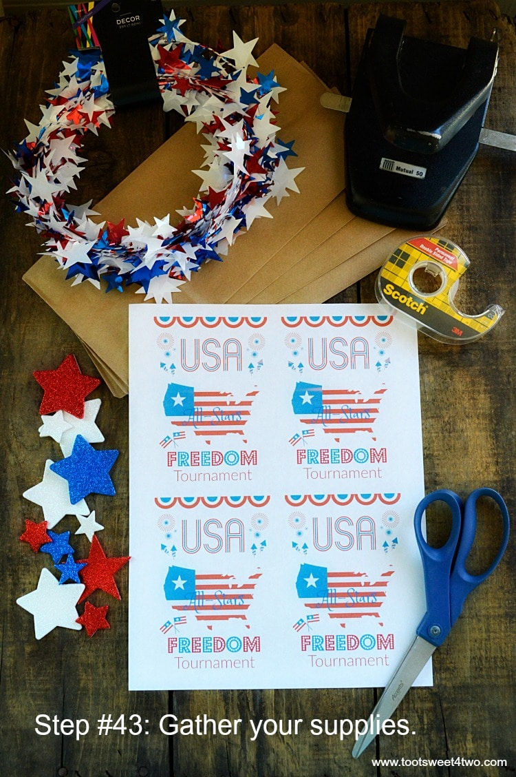 Here's a tutorial for a cute DIY idea for treat bags made from things you might already have on hand! These Patriotic Treat Bags are made from brown paper lunch bags and include step-by-step instructions on how to make the label plus a FREE printable! Perfect for a birthday party, baby shower, wedding shower, special event for kids or for holiday parties, these easy-to-make treat bags are sure to be a hit! | www.tootsweet4two.com