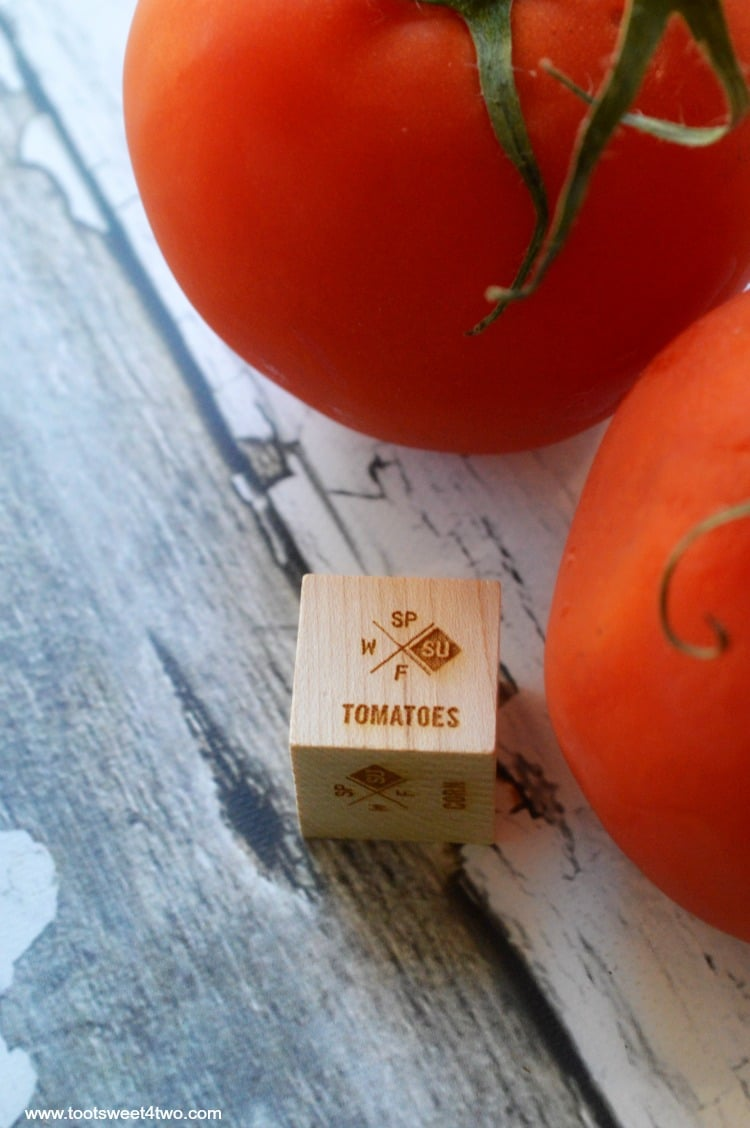 Foodie Dice and Tomatoes