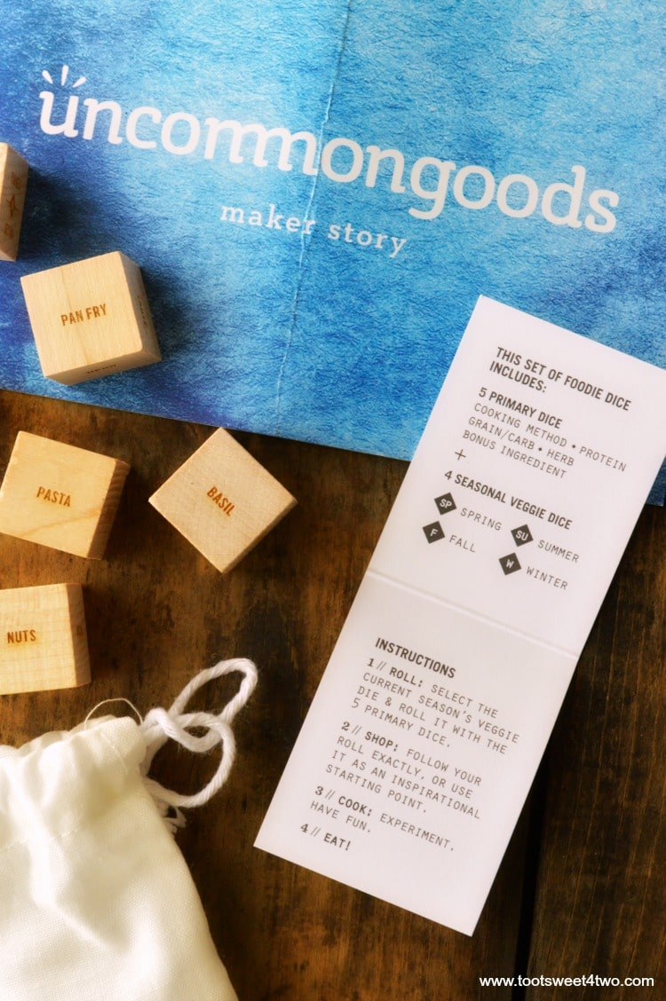 Foodie Dice close-up from Uncommon Goods