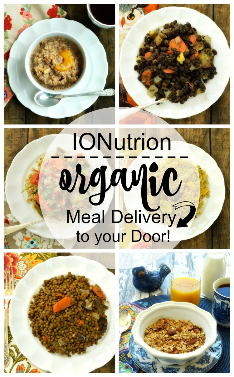 IONutrition - organic meal delivery service collage