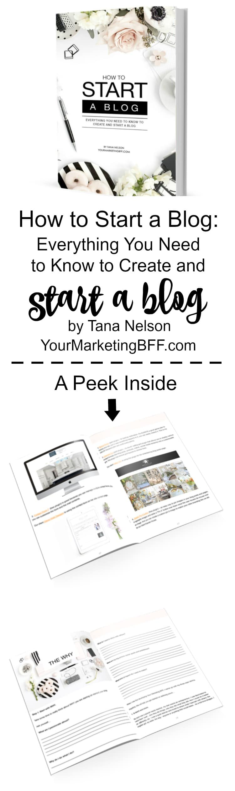 Starting a blog? Here's everything you need to know to start a blog in one easy-to-follow handbook. With step-by-step instructions, this book is the ONE to have! Written by marketing expert and blogger, Tana Nelson, this book saves you hours of time by providing all the information you need in one place. Whether you are starting a blog for personal growth or starting a blog to make money, this eBook is for you! | www.tootsweet4two.com