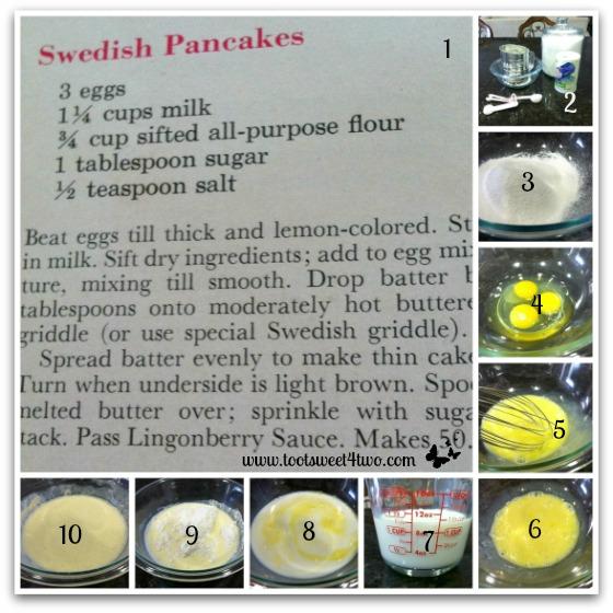 Carole's Swedish Pancakes batter instructions