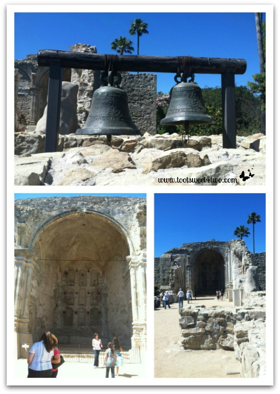 Different views of the Great Stone Church - Mission San Juan Capistrano