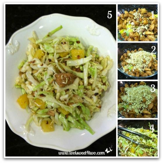Final steps for Oriental Chicken Salad