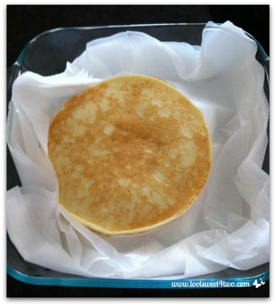 Gail's Swedish Pancakes packed for freezing
