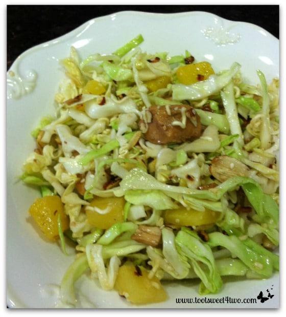 Oriental Chicken Salad plated