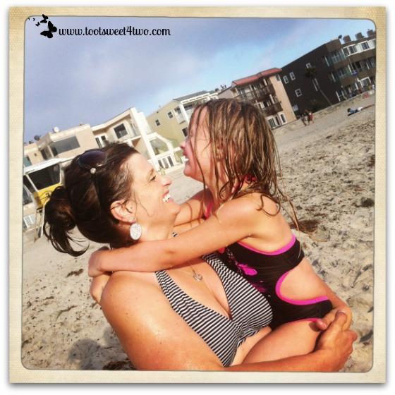 Princess P and Tiffany at the beach