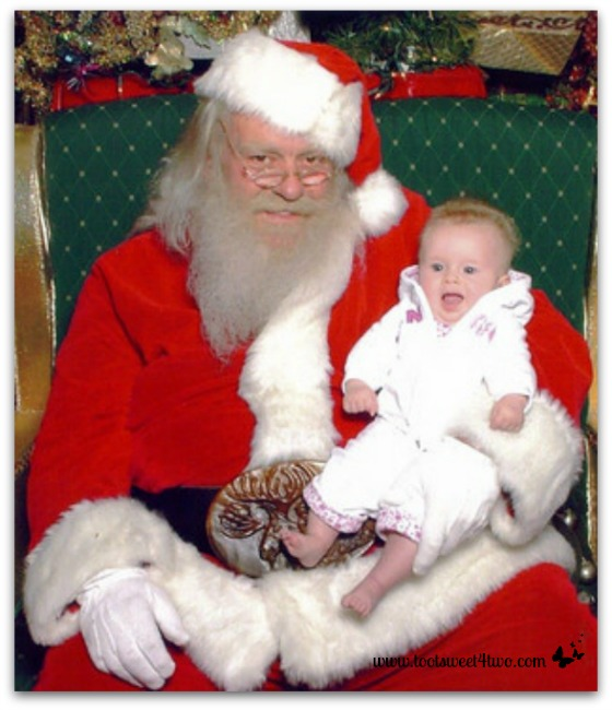 Princess P's 1st photo with Santa - Ho, Ho, Ho - Oh No