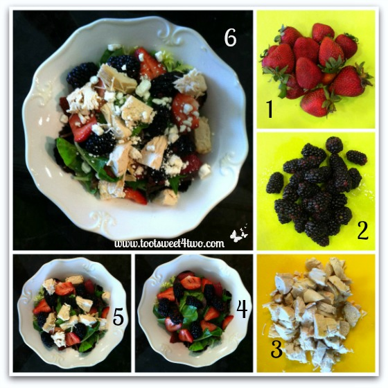 Summer Berry Chicken Salad tutorial