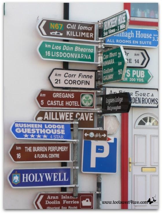 Typical Irish signage in both English and Gaelic (Irish)