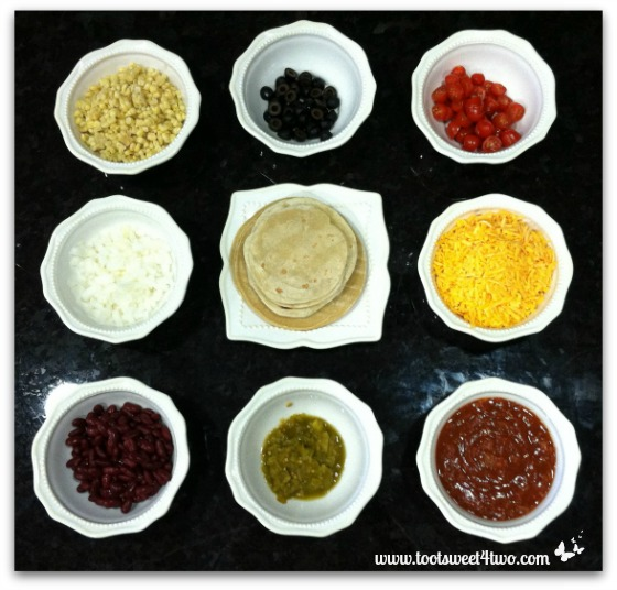 Ingredients for Charlie's Layered Mexican Casserole