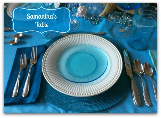 Place setting at Samantha's Table