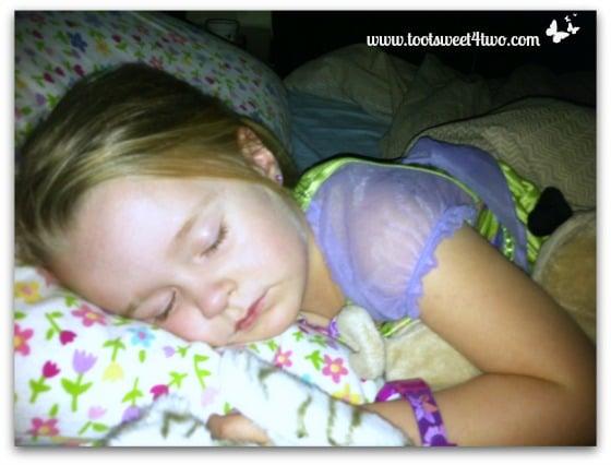 Princess P asleep