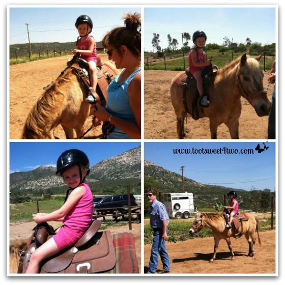 Princess P riding