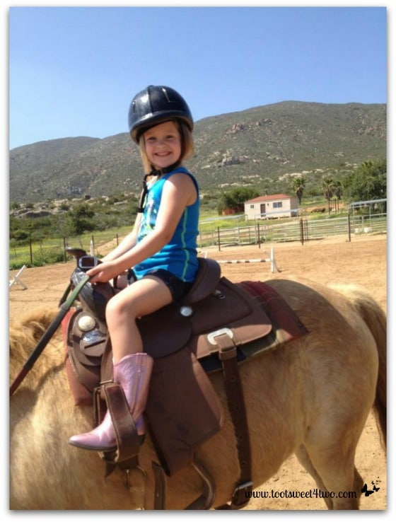 Princess P - tall in the saddle