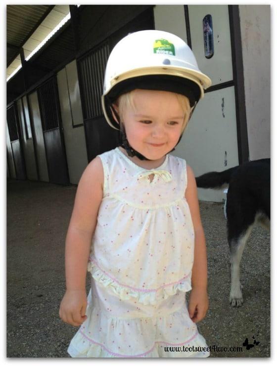 Princess Sweetie Pie in her helmet