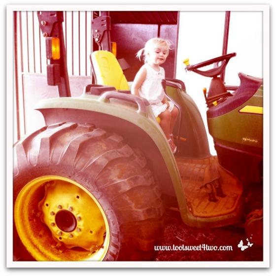 Princess Sweetie Pie on tractor