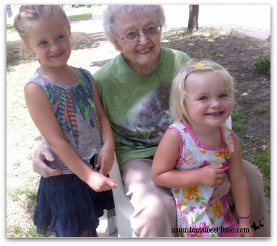 The Princesses P with Great-grandma