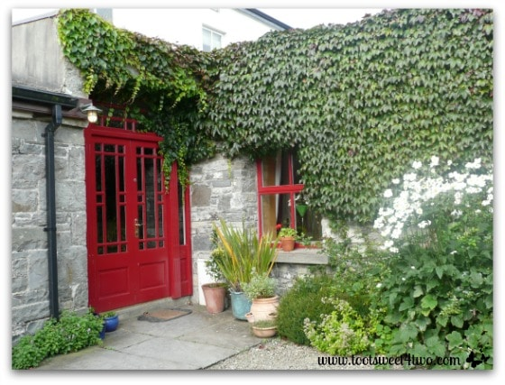 The back door at Moy House, Lahinch, Ireland