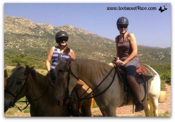Tiffany and April on horseback