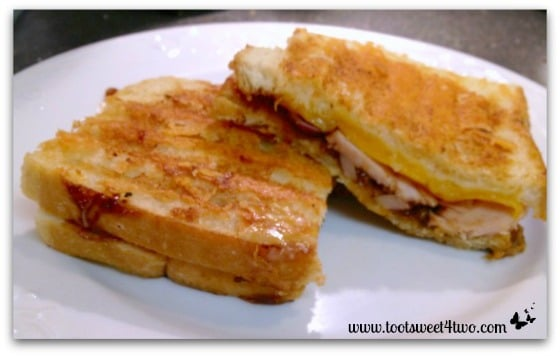 BBQ Turkey and Grilled Cheddar Cheese plated