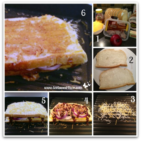BBQ Turkey and Grilled Cheddar Cheese tutorial