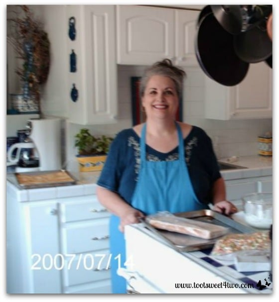 Me in our old farmhouse kitchen