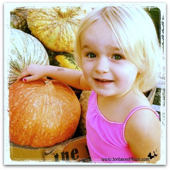 Princess Sweetie Pie picks a pumpkin