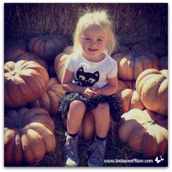 Princess Sweetie Pie with lots of pumpkins
