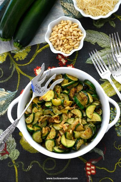 Out-of-this-World Zucchini Moons with Parmesan and Pine Nuts