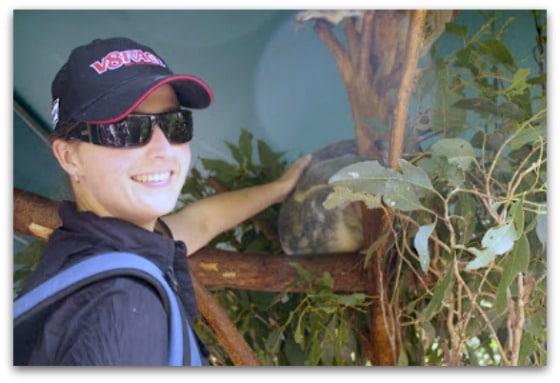 Vanessa at the Koala sanctuary