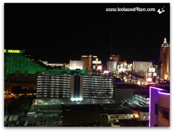 View of Las Vegas strip from our room