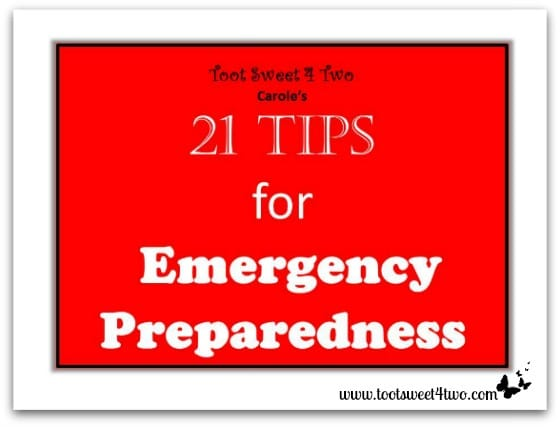 21 Tips for Emergency Preparedness