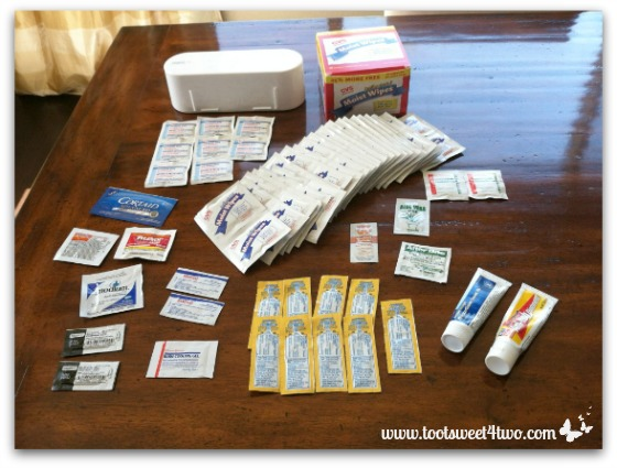 All the first aid supplies with expired dates