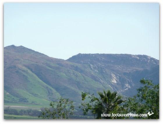 Beautiful green mountains.
