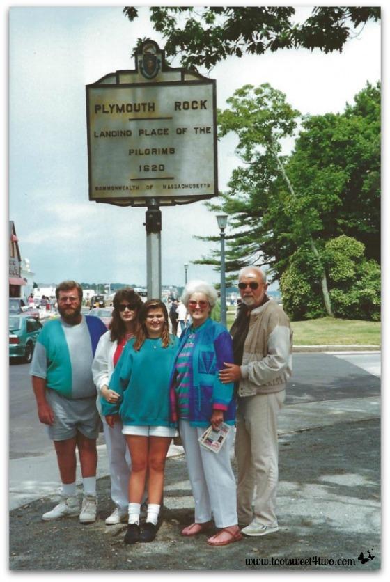 Charlie, Gail, Tiffany, Mom, Dad at Plymouth Rock