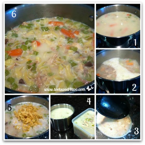 Finishing the Turkey Soup