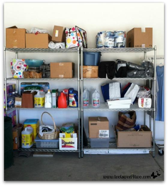 Garage shelves before
