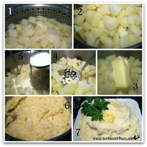 Mashing potatoes