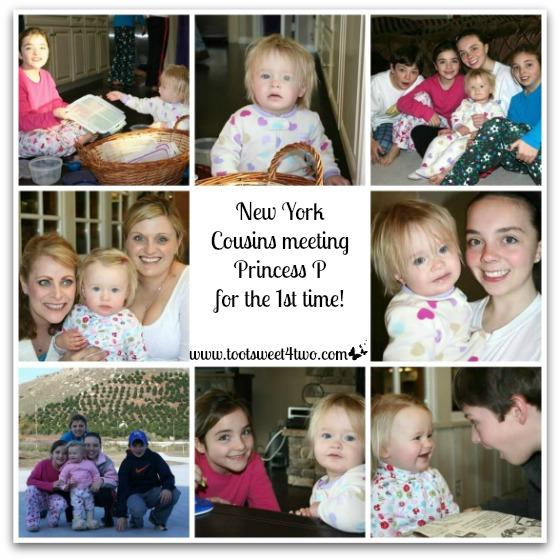 NY Cousins meeting Princess P - December 2008