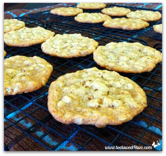 Oatmeal Cookies cooling on a rack
